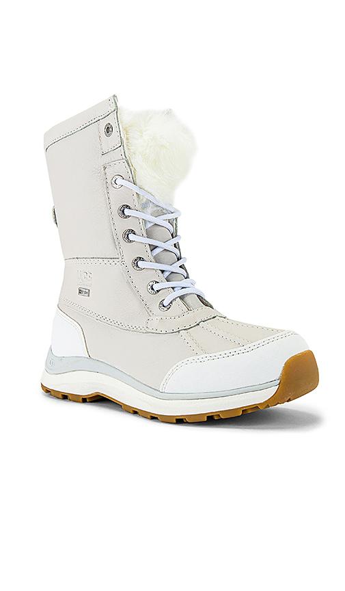 UGG Adirondack III Fluff Boot in Gray,White