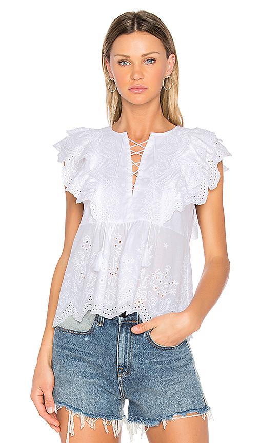 Ulla Johnson Monroe Top in White