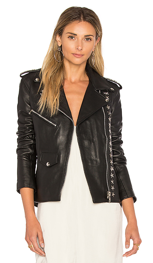 Understated Leather North Star Jacket in Black. - size L also in XS