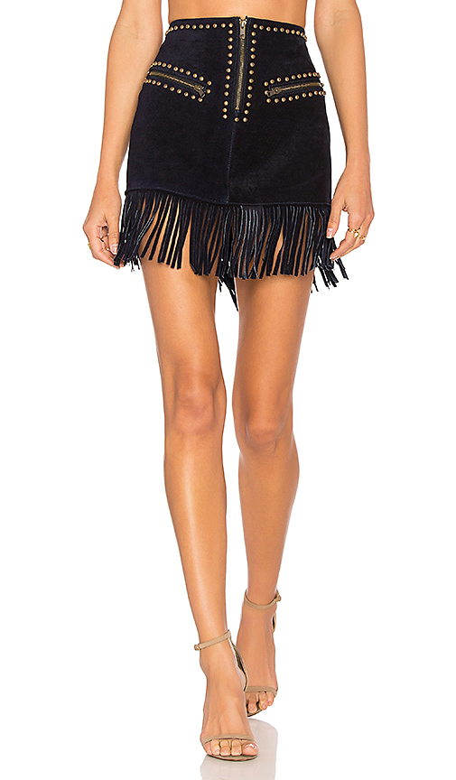 UNDERSTATED LEATHER HOLD YOUR HORSES SKIRT