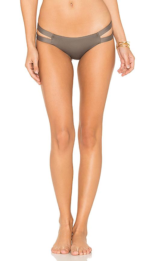 vitamin A Teeny Neutra Bikini Bottom in Brown