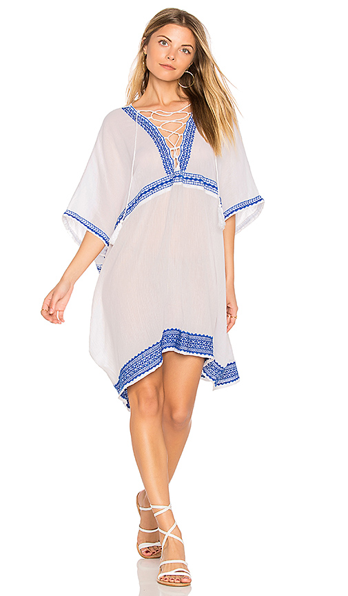 vitamin A Isabell Short Caftan in White