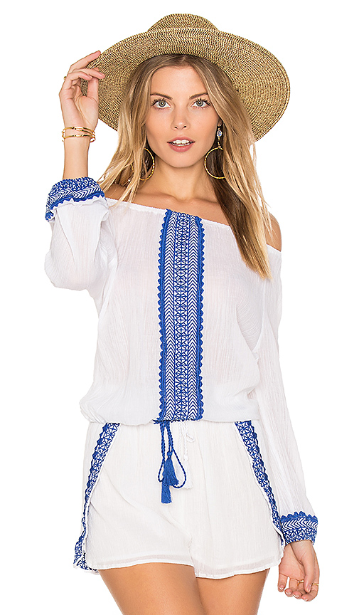 vitamin A Capri Peasant Top in White
