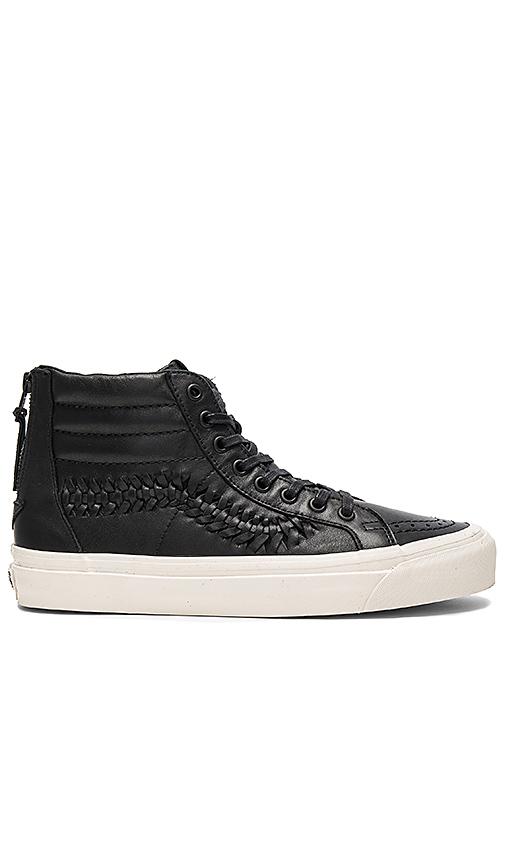 Vans SK8 Hi Zip Weave DX in Black. - size 8 (also in 9.5)
