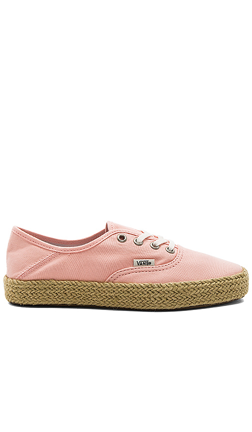 Vans Authentic Espadrille in Peach