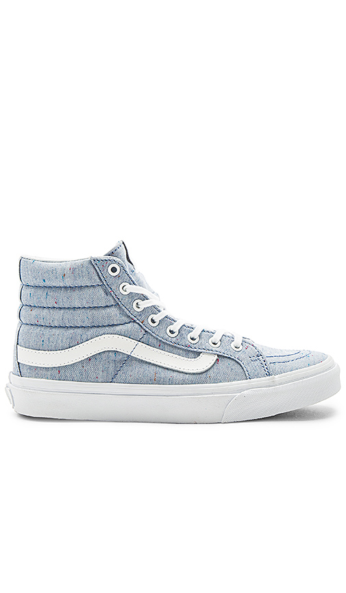 Vans SKi-Hi Slim Sneaker in Blue. - size 7.5 (also in 10,8,8.5,9,9.5)