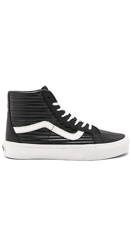 Vans Sk8-Hi Reissue Sneaker in Black. - size 10 (also in 6,6.5,7,7.5,8,8.5,9,9.5)
