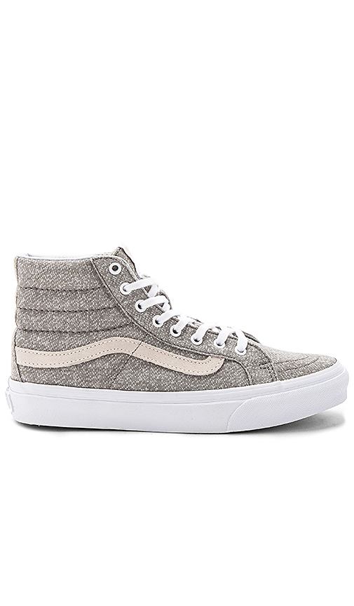 Vans Sk8-Hi Slim Sneaker in Gray. - size 10 (also in 6,6.5,7,7.5,8,8.5,9,9.5)