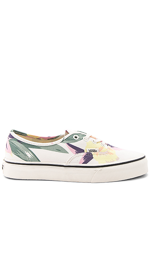 Vans Vintage Floral Authentic Sneaker in White