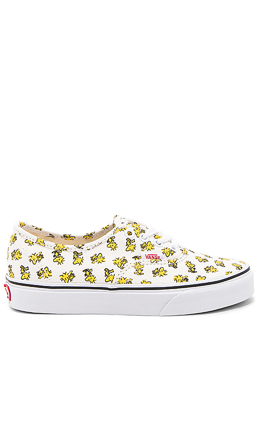 Vans Peanuts Authentic Sneaker in Cream