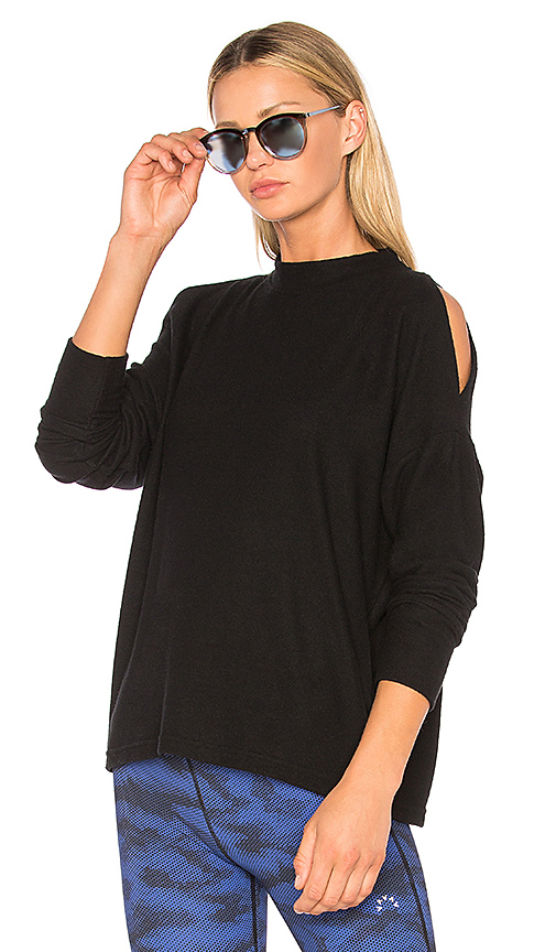 Varley Carbon Revive Sweatshirt in Black. - size L (also in M,S,XS)