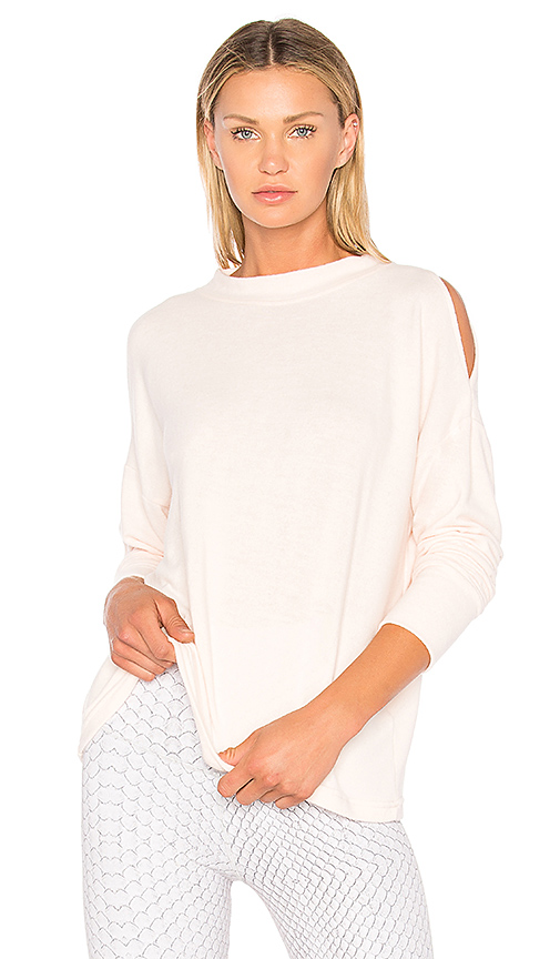 Varley Carbon Revive Sweatshirt in Blush. - size L (also in M,S,XS)