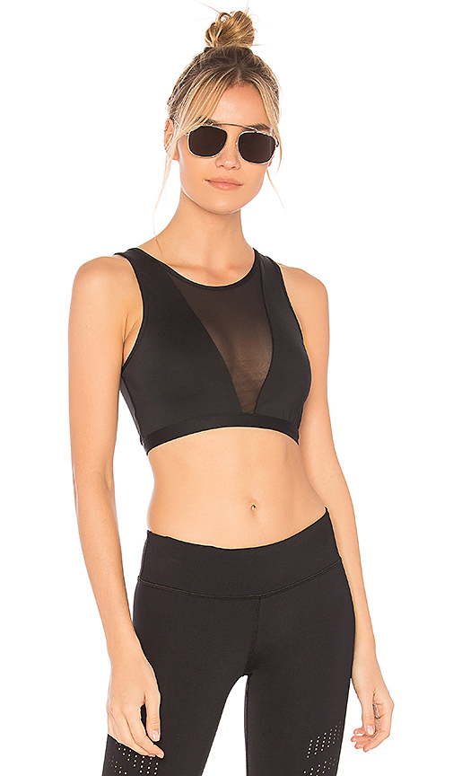 Varley Terri Crop Top in Black