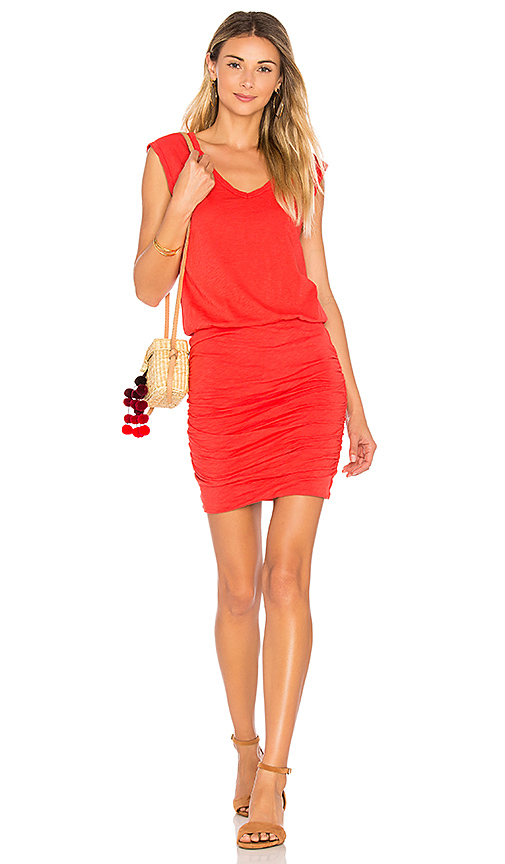 Velvet by Graham & Spencer Bardot Dress in Red. - size L (also in M,S,XS)