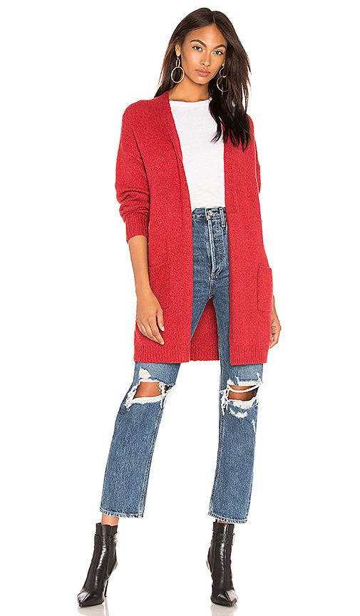 VELVET BY GRAHAM & SPENCER | Velvet By Graham & Spencer Delina Cardigan In Red. - Size XS (Also In S) | Goxip