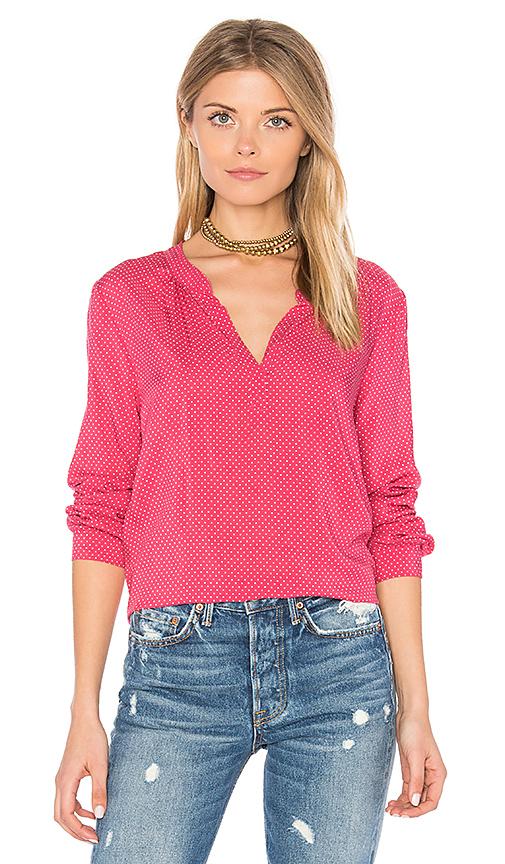 Velvet by Graham & Spencer Jena V Neck Blouse in Pink. - size L (also in M,S,XS)