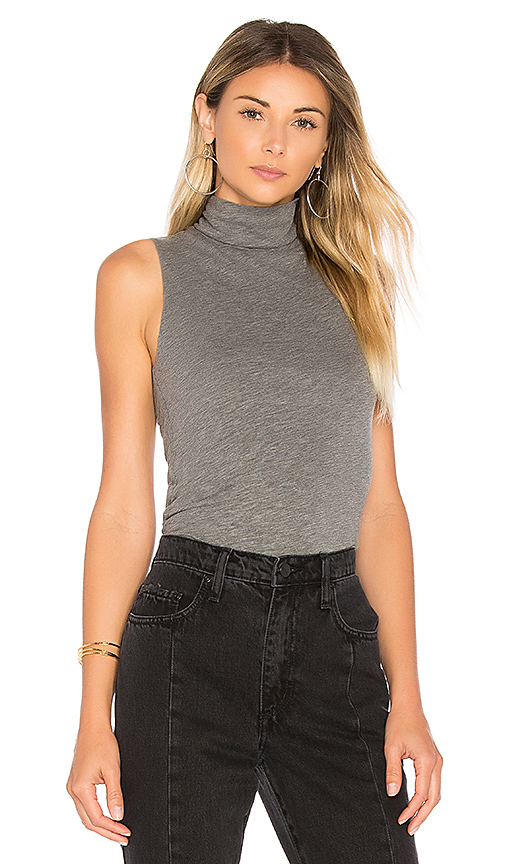 Velvet by Graham & Spencer Rylee Turtleneck Tank in Gray