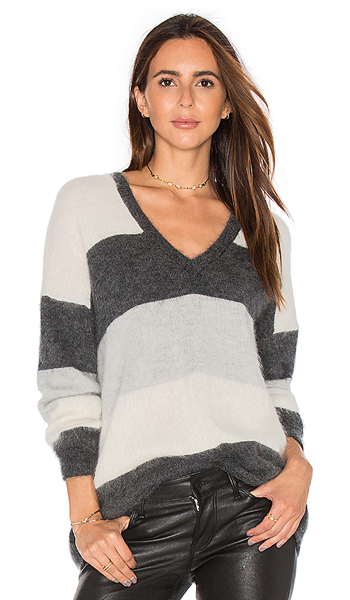 Vince Stripe Sweater in Charcoal. - size M (also in XS)