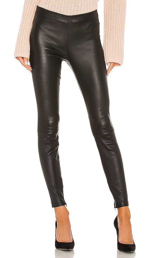 Vince Leather Zip Legging in Black. - size M (also in L,S,XS)