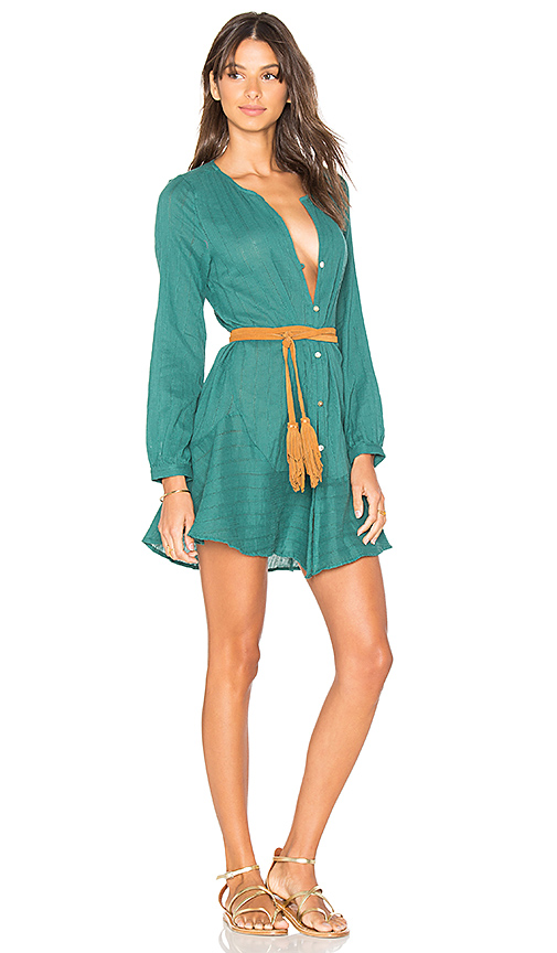 Vix Swimwear Solid Ebe Cover Up in Green
