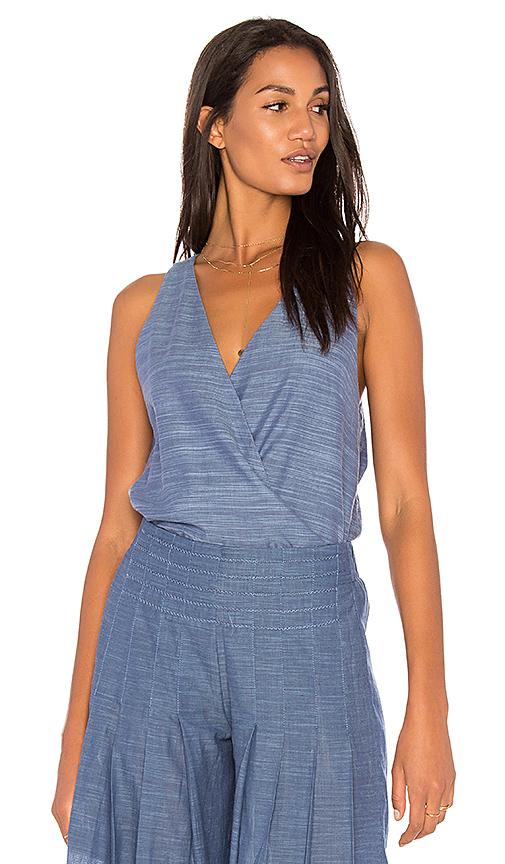 Vix Swimwear Wrap Top in Blue
