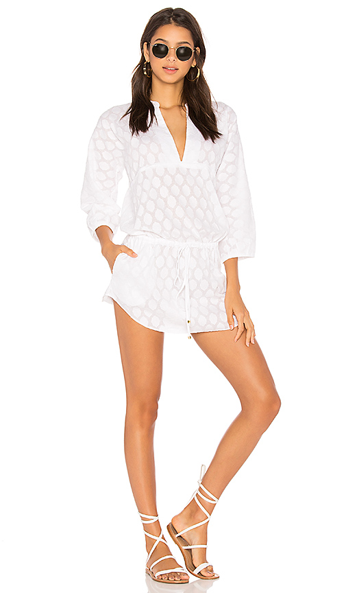 Vix Swimwear Cristina Caftan in Ivory