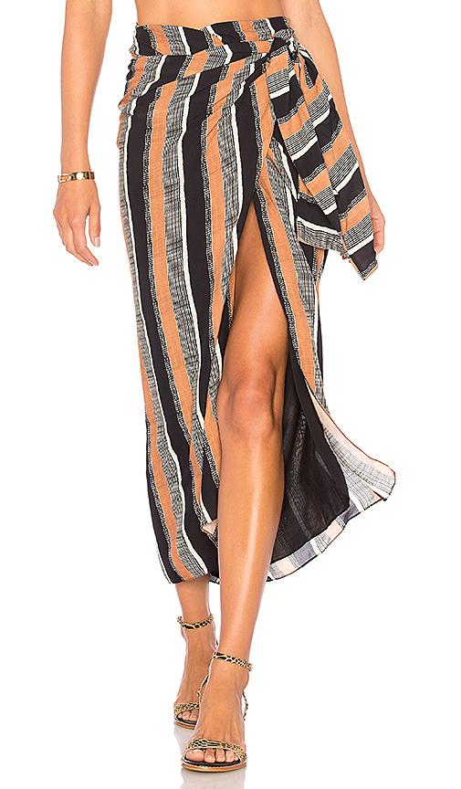 Vix Swimwear Stella Pareo Skirt in Brown