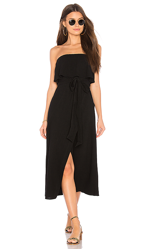 Vix Swimwear Strapless Dress in Black