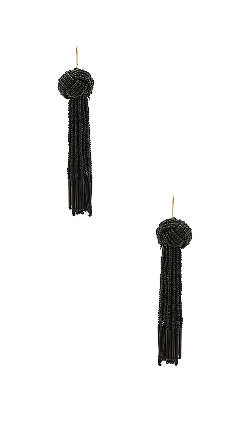 Vanessa Mooney x REVOLVE Darla Earrings in Black