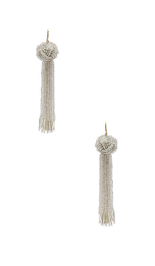 Vanessa Mooney x REVOLVE Darla Earrings in Metallic Silver