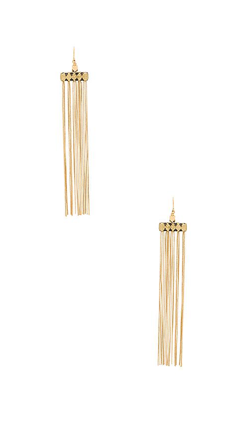 Vanessa Mooney Fara Earrings in Metallic Gold
