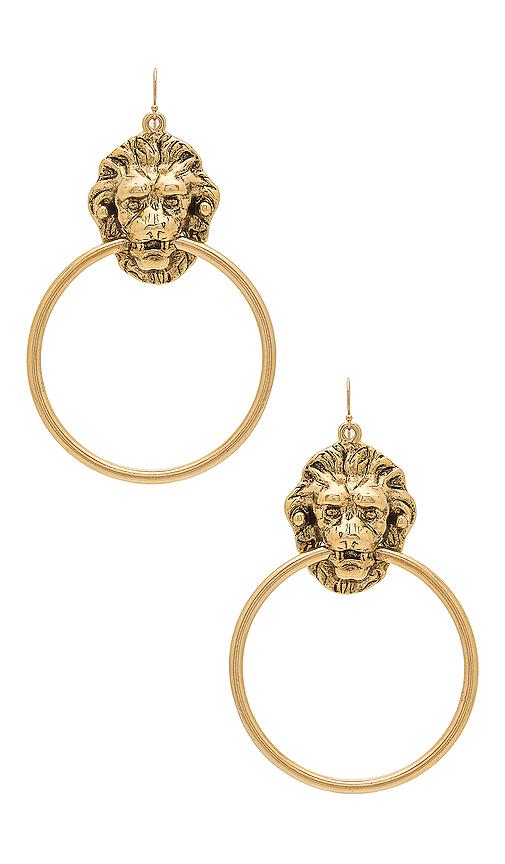 Vanessa Mooney Vandal Earrings in Metallic Gold