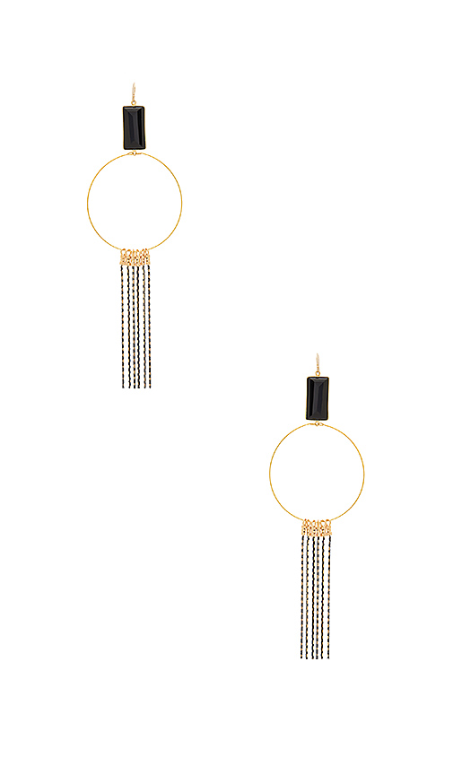 Vanessa Mooney Gwen Earrings in Metallic Gold