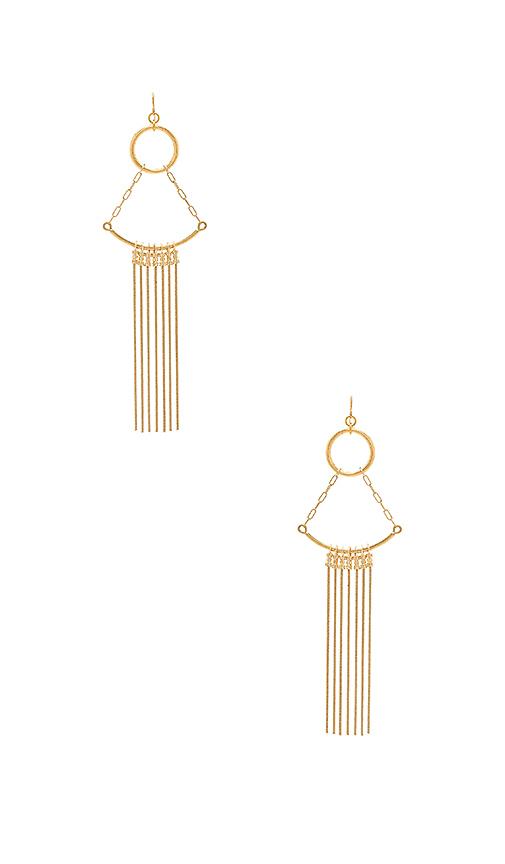 Vanessa Mooney Cher Earrings in Metallic Gold