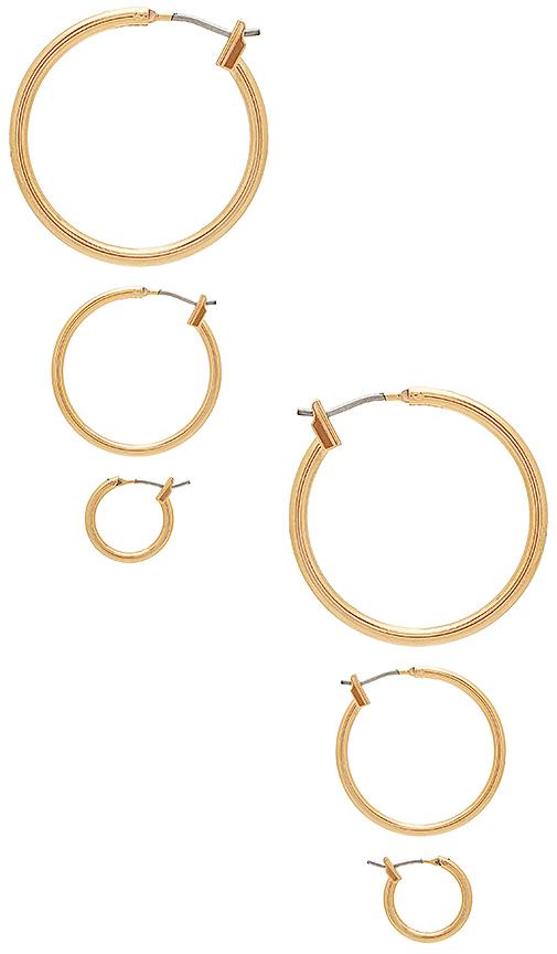 Vanessa Mooney Mirage Earrings in Metallic Gold