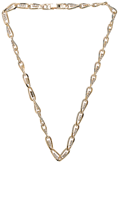 Vanessa Mooney The Siren Chain in Metallic Gold.