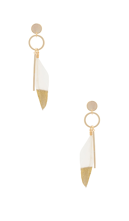Wanderlust + Co Take Flight Earring in Metallic Gold