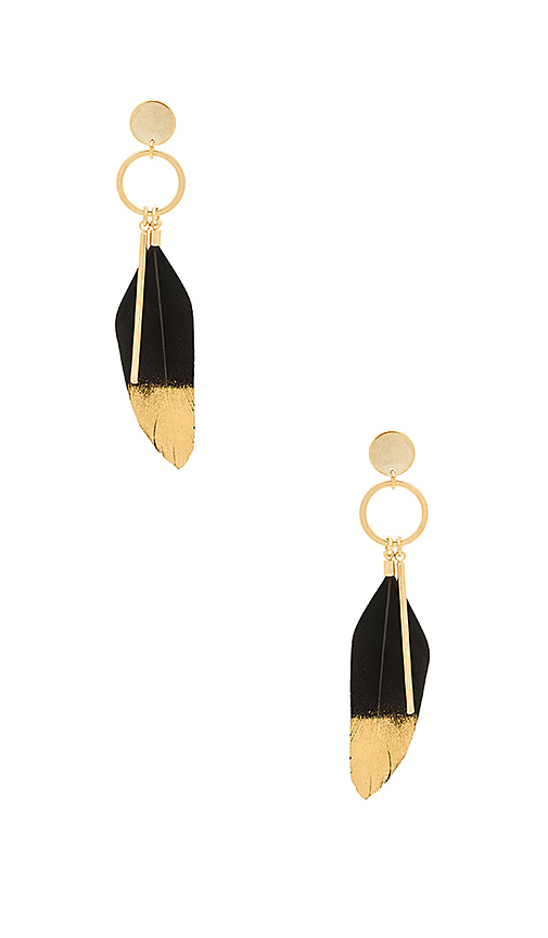 Wanderlust + Co Take Flight Earrings in Metallic Gold