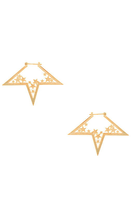 Wanderlust + Co Nova Earrings in Metallic Gold