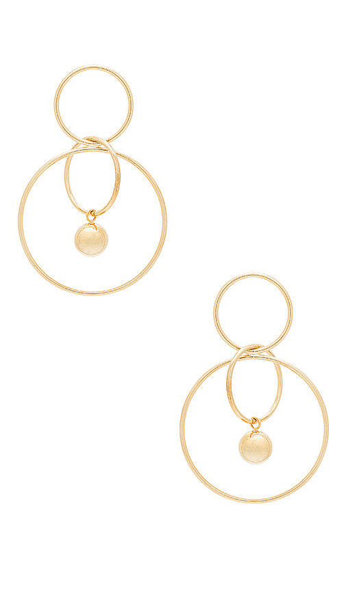 Wanderlust + Co Aura Tri Hoop Earrings in Metallic Gold