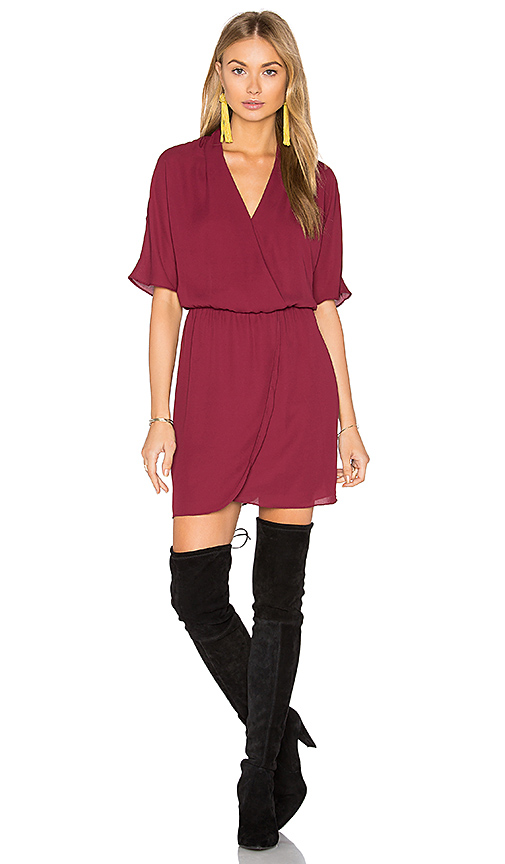 WAYF Sutherland Dolman Wrap Dress in Burgundy. - size S (also in XS)