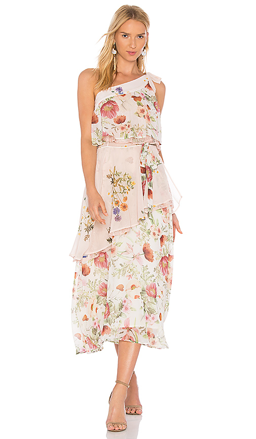 We Are Kindred Field Bouquet Flutter Dress in Ivory