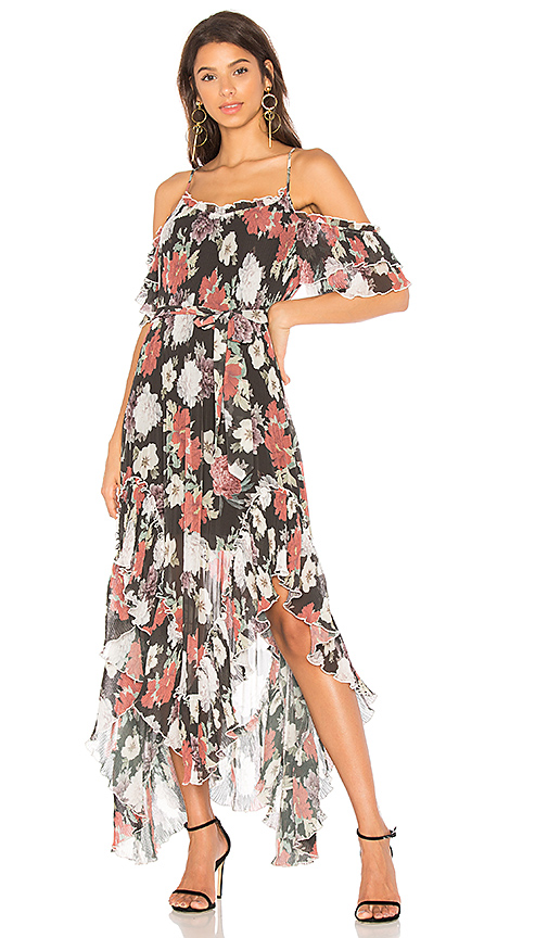 We Are Kindred Country Field Maxi Dress in Black