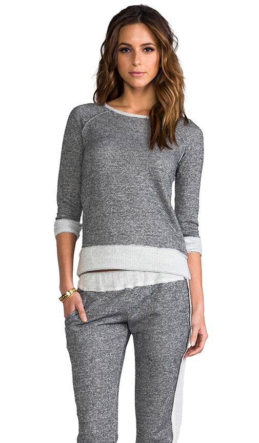 Whetherly Raw Zuma Sweatshirt in Gray at Revolve Clothing