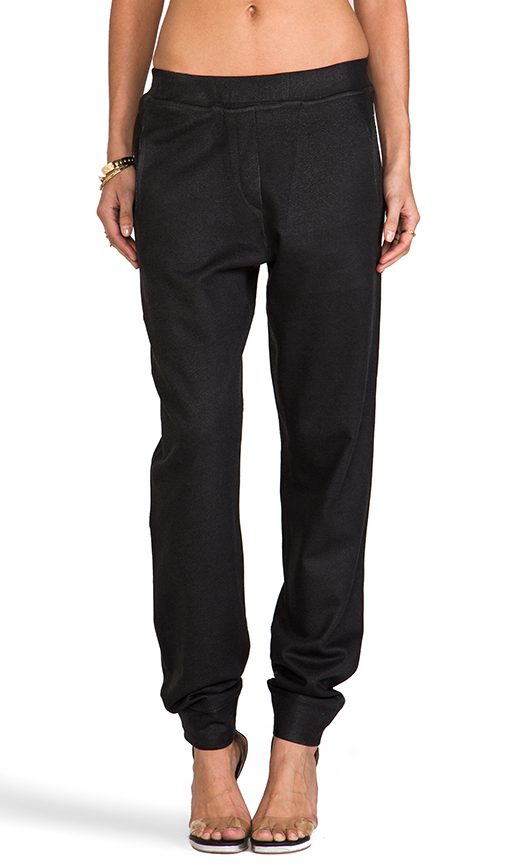 Whetherly Jackson Coated Pants in Black at Revolve Clothing