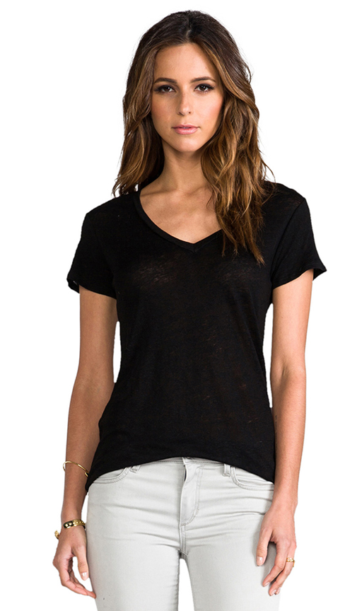 Whetherly Kate Short Sleeve Tee in Black at Revolve Clothing