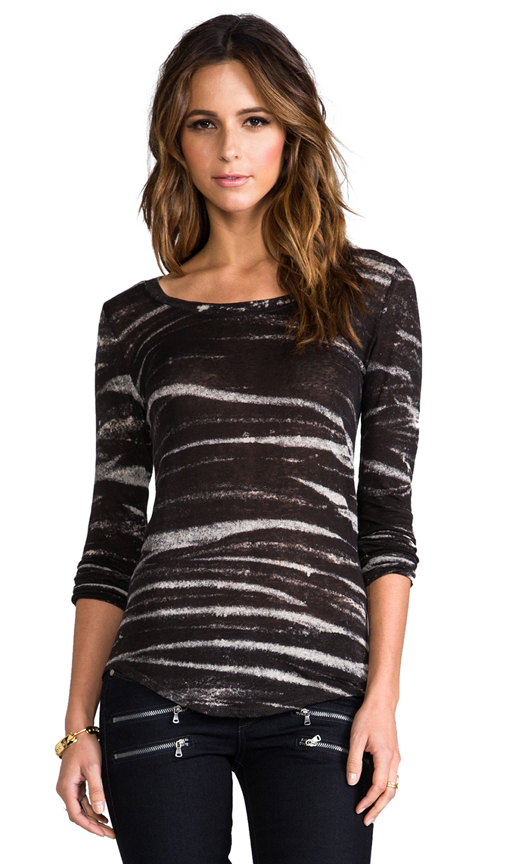 Whetherly Rosewood Long Sleeve Tee in Black at Revolve Clothing