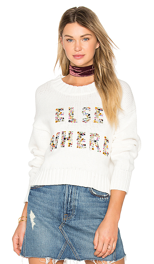 Wildfox Couture Elsewhere Sweater in Ivory. - size L (also in M,S,XS)