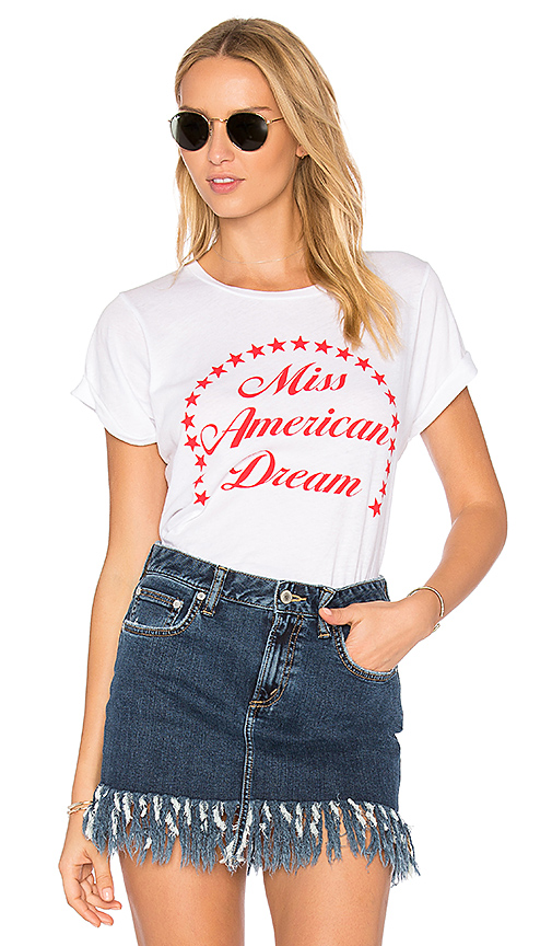 Wildfox Couture Miss American Dream Tee in White
