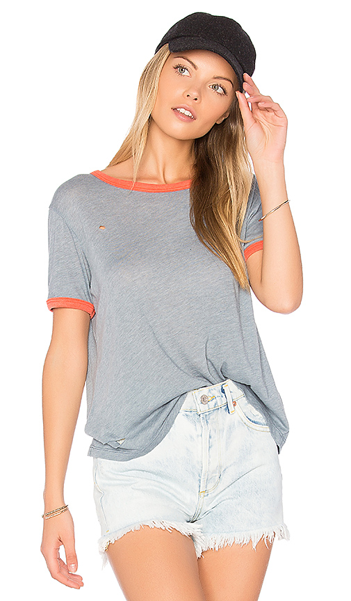 Wildfox Couture Destroyed Tee in Slate